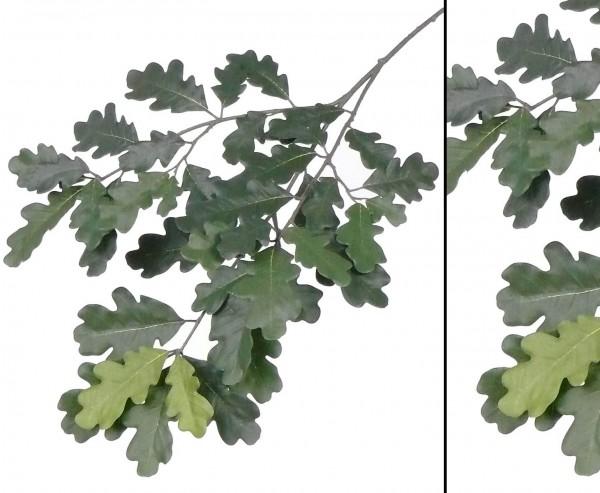 Günstiger Dekozweig mit Eichenblätter 70cm, schwer entfalmmbar