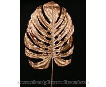 Deko in Gold, Plastikblatt mit 110cm