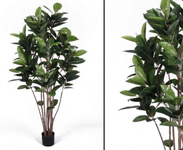 Künstlicher Gummibaum Höhe ca. 150cm mit 147 Blättern