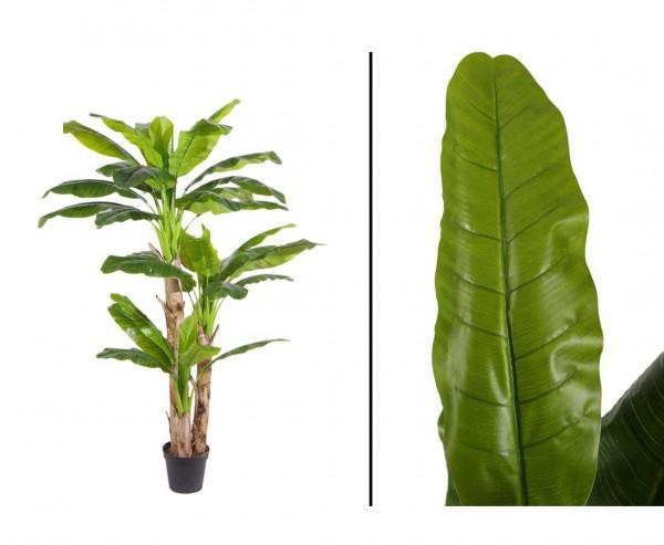 Künstlicher Bananen Baum mit 33 Blätter aus PEVA Höhe ca. 220cm