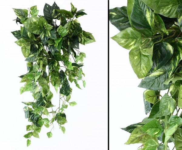 Kunstpflanze Pothosbuschranke mit 249 Blättern und 90cm lang