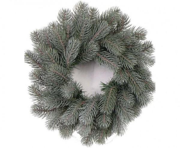 Weihnachtskranz mit 63 Spritzguss Zweigen, Bavaria frost, Durch. 40cm