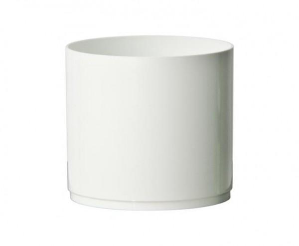 Pflanzgefäß Vase für Blumen und Kakteen weiß mit H:12cm und Ø13cm aus PP