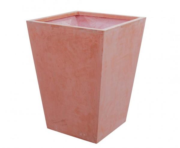 """Übertopf viereckig, """"Terracotta"""", Durchmesser 44cm, Höhe 58cm"""