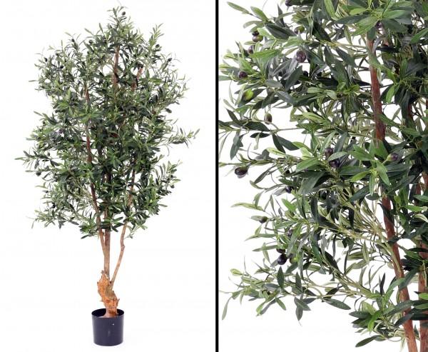 Oliven Kunstbaum mit Früchte UV geschützt und schwer entflammbar, 170cm