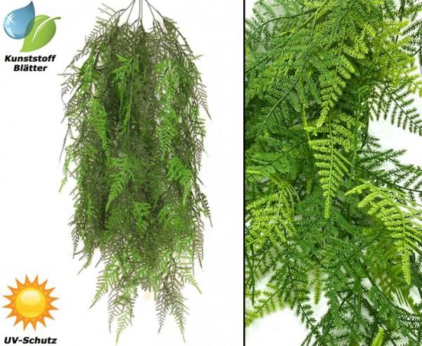 Wetterfester Spargel Farn Busch mit 6 UV-sicheren PE Blattzweige Länge 85cm