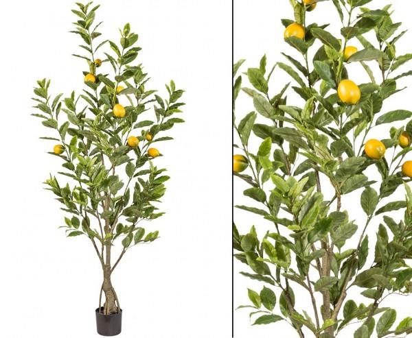 Zitronen Kunstbaum mit 291Blätter und 9Früchten Höhe 185cm