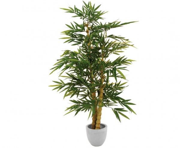 Bambusbaum Kunstbaum mit 3 Perlenstämmen, Höhe ca. 210cm