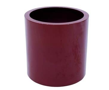 Pflanzkübel rot glänzend, aus PE Material leicht mit ca. 5,30kg, Höhe 50cm