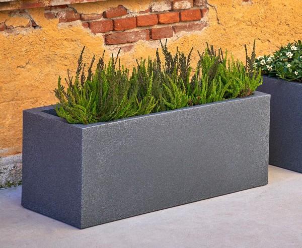 Pflanztrog im Granit-Style mit 80x30x30cm aus Kunststoff für Pflanzarrangements und Raumteiler