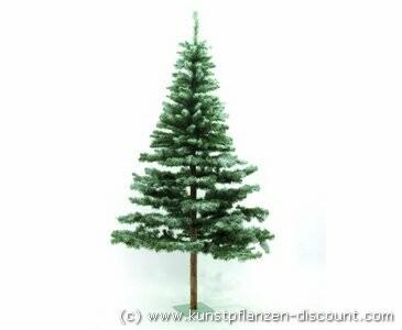 Künstlicher Weihnachtsbaum Tanne Naturstamm beschneit 180cm