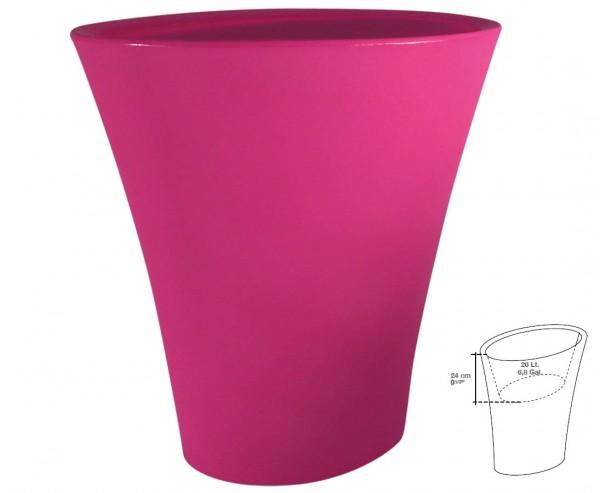 """Übertopf """"Andrea"""" mit 60x35cm in pink, Höhe 70cm mit Innentrog"""