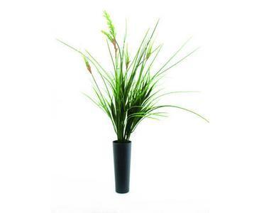 Ziergras aus Kunststoff, Zwiebelgras mit 86 Blätter, Höhe ca. 66cm