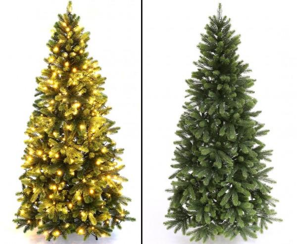 Künstlicher Tannenbaum 180cm mit Spritzguss Nadeln und LED Beleuchtung