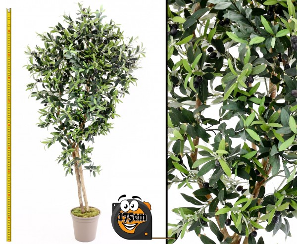 Oliven Kunstbaum 175cm mit 2560 Textilfaser Blätter