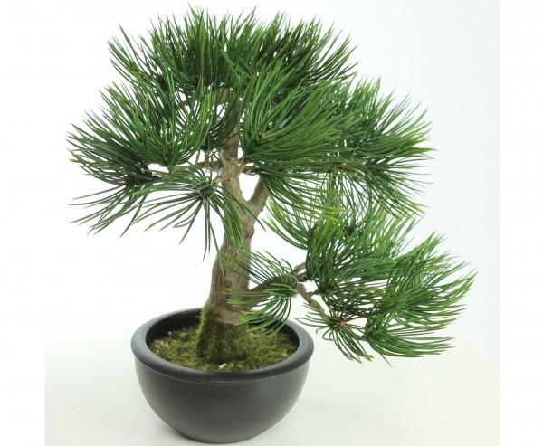 Künstlicher Bonsai Pinie 33cm im schwarzen Topf, Ø ca. 27cm