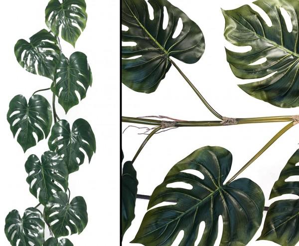 Split Philodendron Girlande Kunstpflanze mit 180cm und 11 Blätter