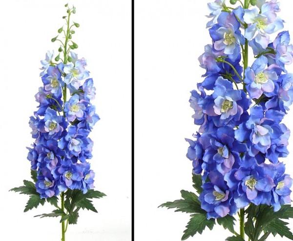 Kunstblume Rittersporn mit weiß/ blauen Blüten, Länge 95cm