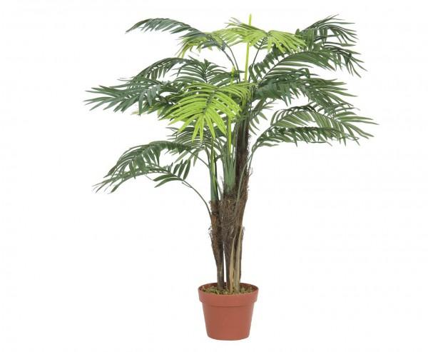 Areca Palme künstlich mit 13 Textil Blätter mit Topf Höhe 110cm