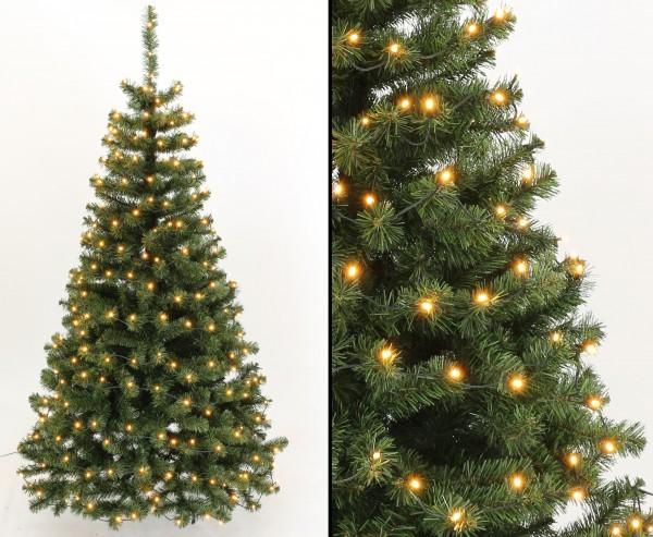 Künstlicher Tannen Christbaum Georgia 180cm mit 192 LEDs mit PVC Nadeln B1
