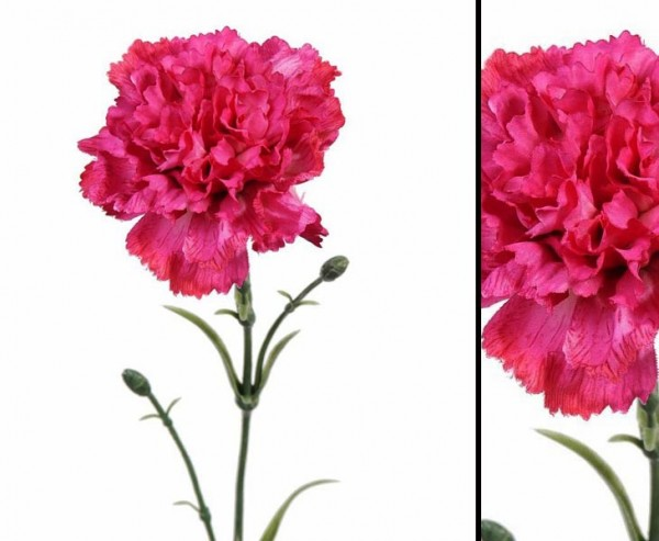 Kunstblume Nelke, rötlich mit einer Länge von 60cm