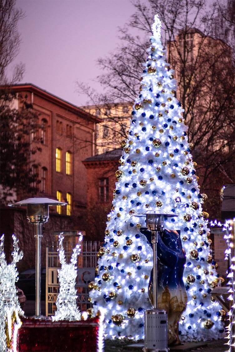 XXL-Weihnachtsbaum weiss