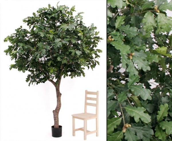 Eichen Kunstbaum in Premium Qualität mit 3784 Blätter und Höhe 240cm