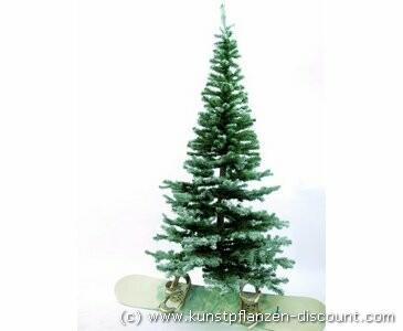 Künstlicher Weihnachtsbaum, Tanne, Naturstamm, beschneit, 240cm