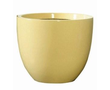 Blumenkübel beige farbig, Kunststoff, Frost und UV beständig, A1 Durch. 30cm, Höhe 25cm
