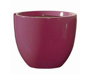 Blumenkübel pink farbig, Kunststoff, Frost und UV beständig, A1 Durch. 30cm, Höhe 25cm