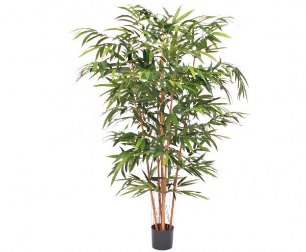 Künstlicher Bambus mit 5 Naturstämmen, 1.344 Blätter, 250cm