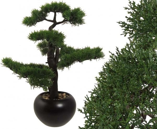 Künstlicher Bonsai Zeder ca. 60cm mit Keramiktopf