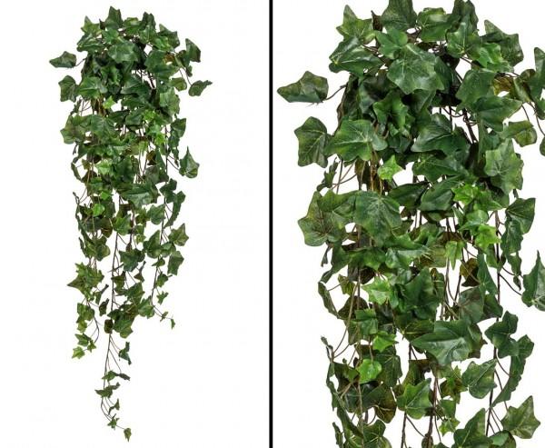 Efeubusch Hedera Kunstpflanze mit 98cm, 244 Blätter aus Textilfaser