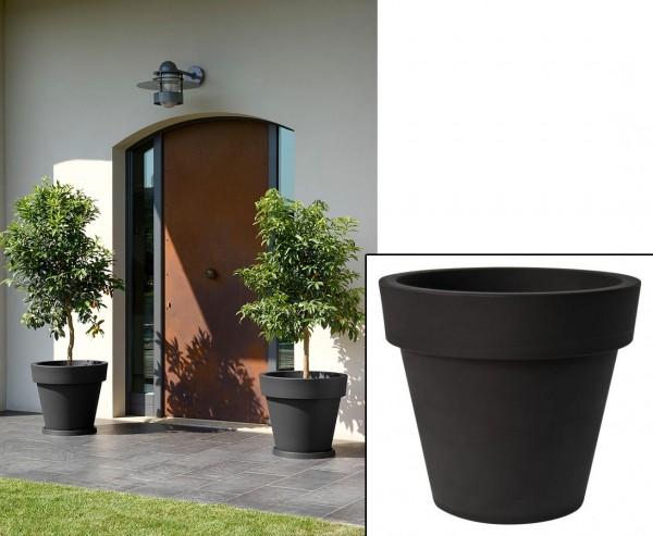 """Großes Pflanzengefäß schwarz mit Ø 80cm und Höhe 71cm """"Zorro2"""""""