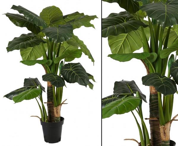 Alocasia künstliches riesenblättriges Pfeilblatt 135cm mit 26 Blätter