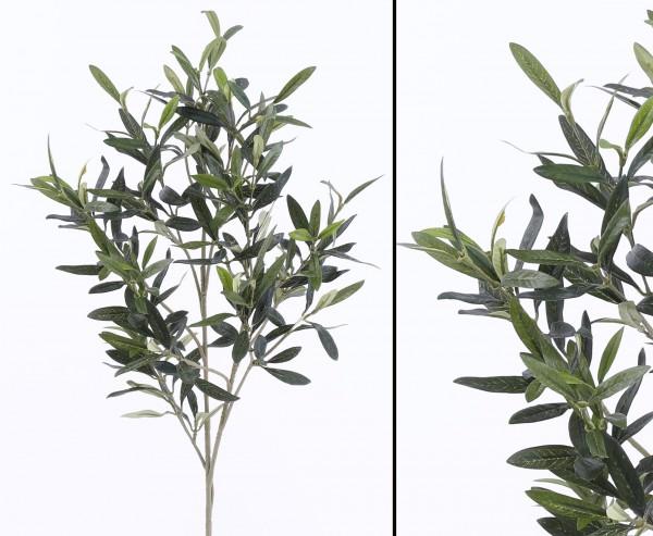 Künstliche Pflanze Olivenzweig UV-sicher 234 Blätter Länge 90cm
