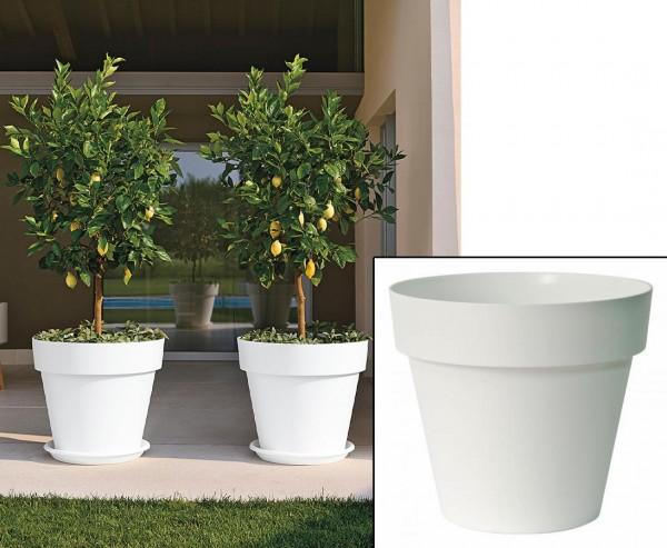 Gut und günstiger Übertopf in Weiß Höhe 27cm und Ø 30cm passend für fast alle Kunstpflanzen