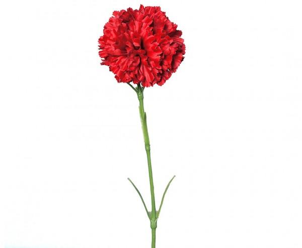 Kunstblume Nelke rot mit einer Länge von 45cm