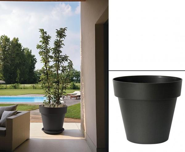 Gut und günstiger Übertopf in Anthrazit Höhe 31cm und Ø 35cm passend für fast alle Kunstpflanzen