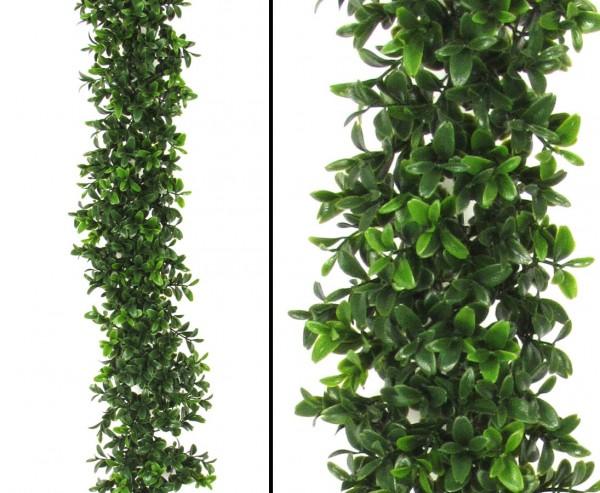 Künstliche Buchsgirlande mit 486 UV geschützte Blätter 180cm