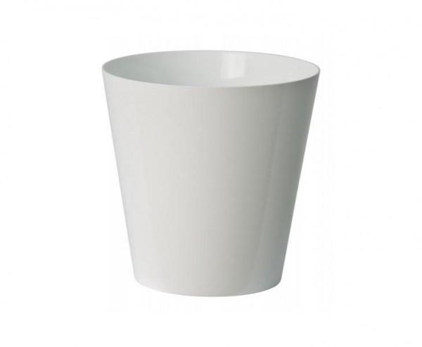 Blumen Vase weiß mit 16x16cm aus PP für Kunstpflanzen und Dekoartikel