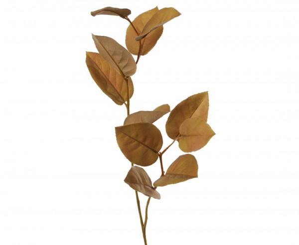 Kunstpflanze Apfelblattzweig in natürlicher Herbstfarbe braun, 75cm lang