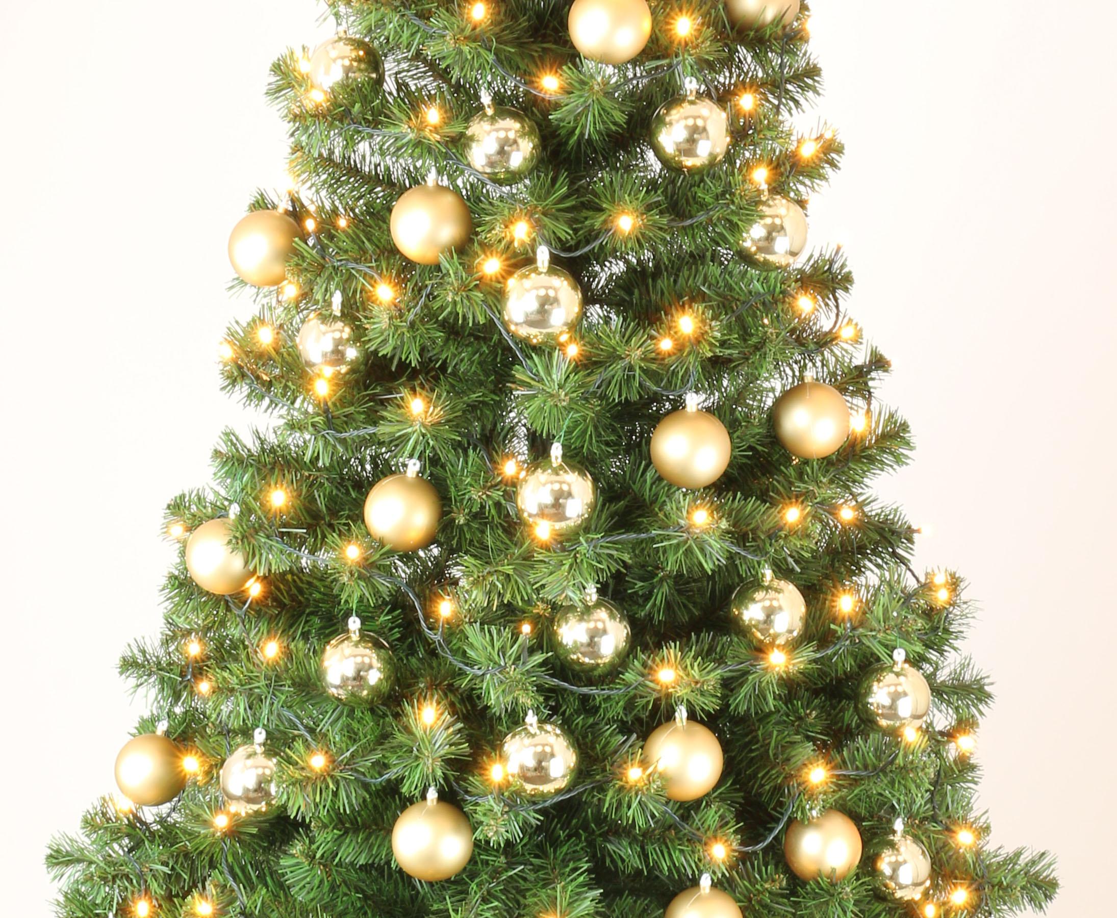 k nstliche weihnachtsb ume mit christbaumkugeln gold. Black Bedroom Furniture Sets. Home Design Ideas