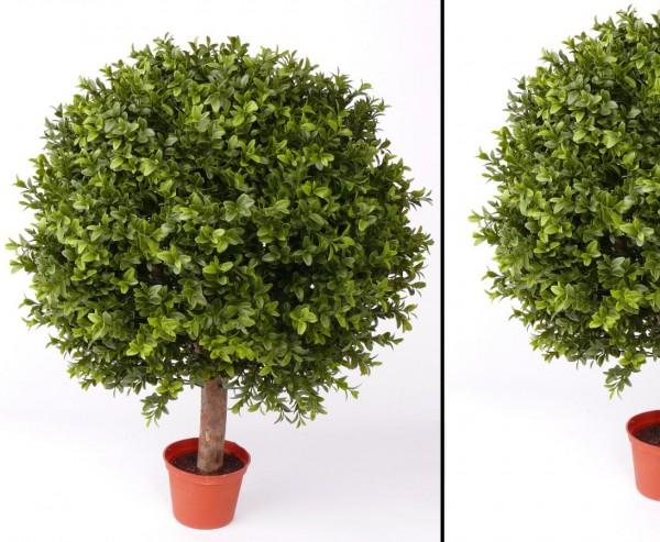 Buchskugel Kunstpflanze für Außenbereich mit UV Schutz Höhe ca. 65cm