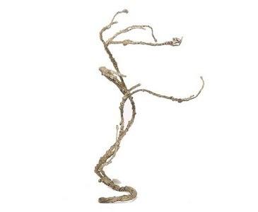 Korkenzieherzweig künstlich aus Draht mit Schaumstoff, Länge 40cm