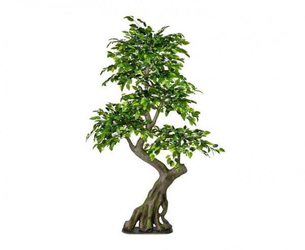 Künstlicher Ficus-Waldbaum Höhe ca. 170cm auf Bodenplatte