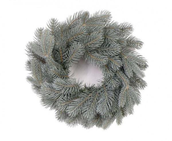 Weihnachtskranz mit 84 PE Zweigen, Bavaria blue, Durch. 40cm