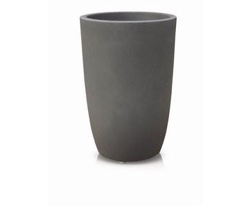 Blumenkübel aus Kunststoff Anthrazit farbig, UV und Frost beständig, A1 Durch. 30cm, Höhe 45cm