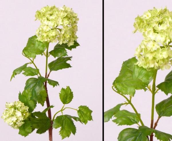 Kunstblume Schneeball, Viburnum mit grünen Blüten, Höhe ca. 40cm