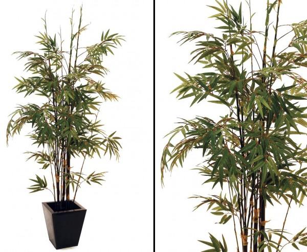 Kunstbaum Bambus mit dunklem Stamm 859 Textilblätter Höhe 152cm